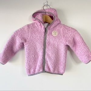 The North Face baby teddy zip up cozy plush hooded jacket
